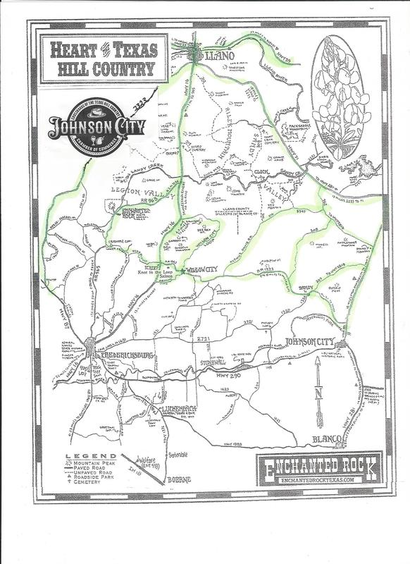 Attractions Maps Johnson City Texas
